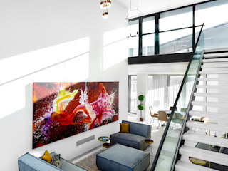 SAPPHIRE Super Penthouse Modern Living Room by The Coup Modern