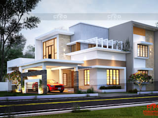 Best Home Designers In Kochi Asian style houses by CreoHomes Pvt Ltd Asian