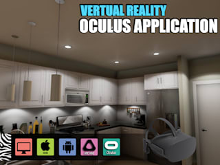 Interactive Virtual Reality Kitchen Design for Oculus Device vr development by Architectural Visualisation Studio, Moscow – Russia Yantram Architectural Design Studio Modern