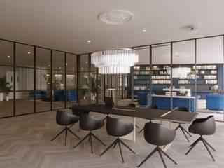 Diseño de oficinas modernas estilo escandinavo: Estudios y despachos de estilo  de Stockholm Barcelona Design - Interioristas en Barcelona