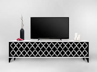Nowoczesna szafka RTV z marokańskim wzorem: styl , w kategorii  zaprojektowany przez Natti - meble z wzorem