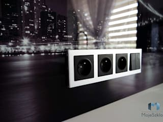Szkło z grafiką - motyw miasta: styl , w kategorii Ściany i podłogi zaprojektowany przez Moje Szkło