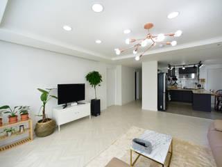 Living room by 누보인테리어디자인