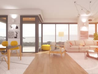 bukalemun mimarlık – Sunsetpark Kalamış:  tarz Oturma Odası