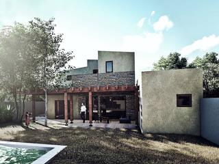 Casa La Reina: Jardines con piedras de estilo  por RAS Arquitectos