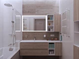 Квартира в ЖК «1147» Ванная комната в скандинавском стиле от 'INTSTYLE' Скандинавский
