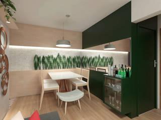 Apartamento BT Salas de jantar modernas por Quatro Fatorial Arquitetura e Urbanismo Moderno