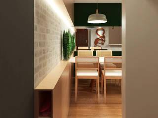 Apartamento BT Corredores, halls e escadas modernos por Quatro Fatorial Arquitetura e Urbanismo Moderno