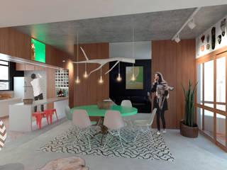 Apartamento F Salas de jantar modernas por Quatro Fatorial Arquitetura e Urbanismo Moderno