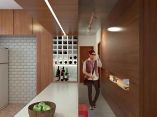 Apartamento F Adegas modernas por Quatro Fatorial Arquitetura e Urbanismo Moderno