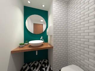 Clínica Psicologia Banheiros modernos por Quatro Fatorial Arquitetura e Urbanismo Moderno