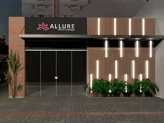 Fachada Salão de Beleza Espaços comerciais modernos por Quatro Fatorial Arquitetura e Urbanismo Moderno