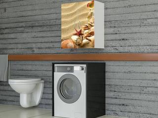 Candy Mobilyam – UV Baskılı Makine Üstü Banyo Dolapları:  tarz