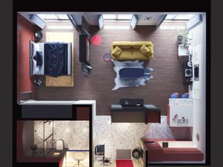 Интерьер квартиры-студии в современном стиле от Дизайнер Фёдор Иванов Модерн