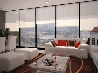 Diseño de Interiores : Salas de estilo  por Arquitecto-Villarino, Moderno