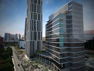 Valle Oriente Monterrey : Condominios de estilo  por Arquitecto-Villarino, Moderno