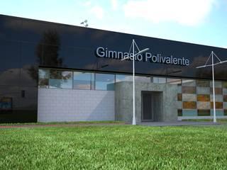 Gimnasio Polivalente : Gimnasios de estilo  por Arquitecto-Villarino, Moderno