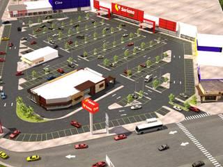 plaza comercial apodaca nuevo leon Estudios y despachos modernos de Arquitecto-Villarino Moderno
