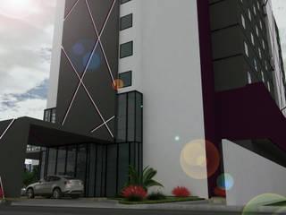 hotel crowne plaza san luis: Condominios de estilo  por Arquitecto-Villarino, Moderno