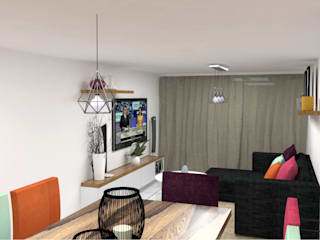 NUEVO LIVING DE NATALIA:  de estilo  por Acosta Arquitecta
