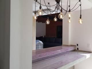 Residencia Oasis Salones eclécticos de H2X Arquitectura e Ingenieria Ecléctico