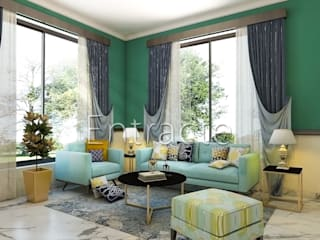 Residential Project In Bangalore :  Living room by Entracte