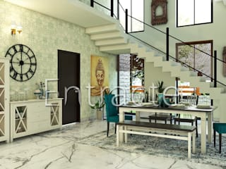Residential Project In Bangalore :  Dining room by Entracte