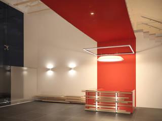 Проект интерьера яхт-клуба в Новосибирске Коридор, прихожая и лестница в модерн стиле от Дизайнер Фёдор Иванов Модерн