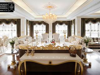 Bosphorus City Villa - İstanbul / Türkiye Klasik Oturma Odası Sia Moore Archıtecture Interıor Desıgn Klasik