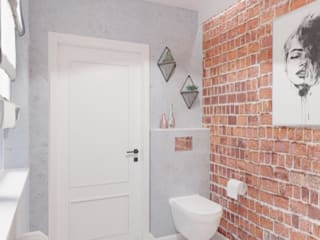 ห้องน้ำ โดย WOJTYCZKA Pracownia Projektowa, อินดัสเตรียล