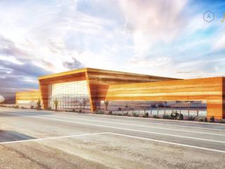 REMODELACIÓN AEROPUERTO INTERNACIONAL DE LA PAZ Aeropuertos de estilo moderno de Protoforma Moderno