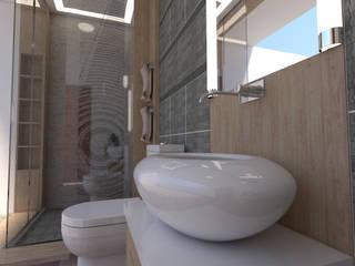 Baño 3d baymac Baños de estilo minimalista