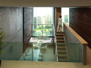 TORRE LOFT BOUTIQUE Pasillos, vestíbulos y escaleras modernos de Protoforma Moderno