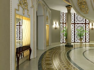 Pearl Palace - Doha / Qatar Classic style corridor, hallway and stairs by Sia Moore Archıtecture Interıor Desıgn Classic