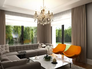 Daily Living Room / Hayat Villas Sia Moore Archıtecture Interıor Desıgn Living room Solid Wood Orange