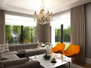 Daily Living Room / Hayat Villas Sia Moore Archıtecture Interıor Desıgn ห้องนั่งเล่น ไม้จริง Orange
