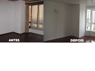 Apartamento T2 Monte Estoril - Remodelação. : Salas de estar  por Wish House