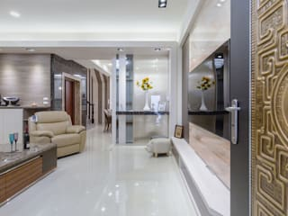 橋頭 許先生 现代客厅設計點子、靈感 & 圖片 根據 德廚臻品 室內設計公司 現代風