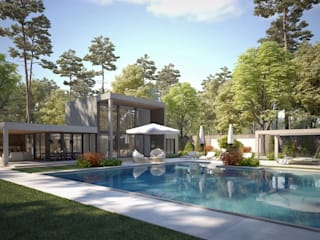 Kaş Villa - Antalya / Turkey par Sia Moore Archıtecture Interıor Desıgn Moderne