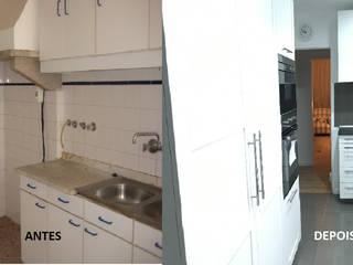 Apartamento T3 Cascais - Remodelação total. Cozinhas modernas por Wish House Moderno