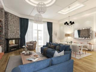 Living room by Beta İç Mimarlık, Country