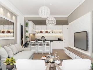 Living room by Beta İç Mimarlık, Scandinavian