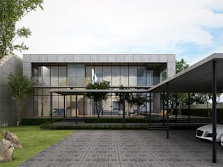 Metaphor Design Studio บ้านระเบียง คอนกรีต Grey