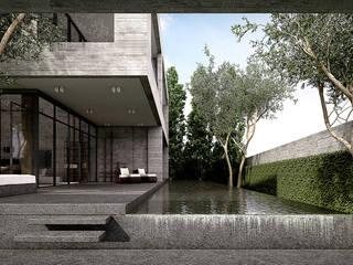 Metaphor Design Studio สระว่ายน้ำอินฟินิตี้ คอนกรีต Grey