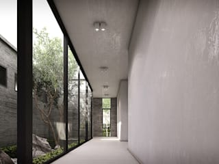 Metaphor Design Studio ระเบียงและโถงทางเดิน คอนกรีต White