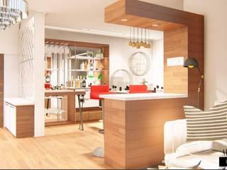 Corridor & hallway by Aikaa Designs