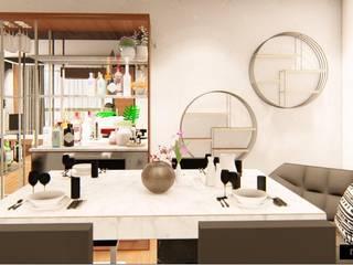 Aikaa Designs Modern dining room Plywood