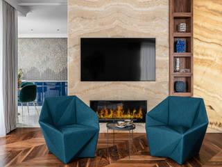 Ruang Keluarga Modern Oleh SAFRANOW Modern