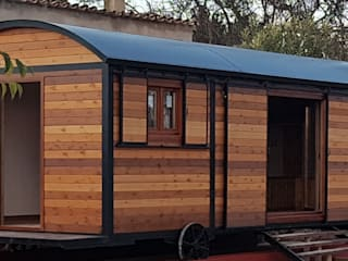 Wagon Hut, Híbrido de vagón de ferrocarril  y  shepherd´s hut.: Hoteles de estilo  de Wagonstill,