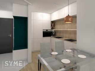 Mieszkanie Młodej Kobiety Nowoczesna kuchnia od SYME - Pracownia Wnętrz Nowoczesny